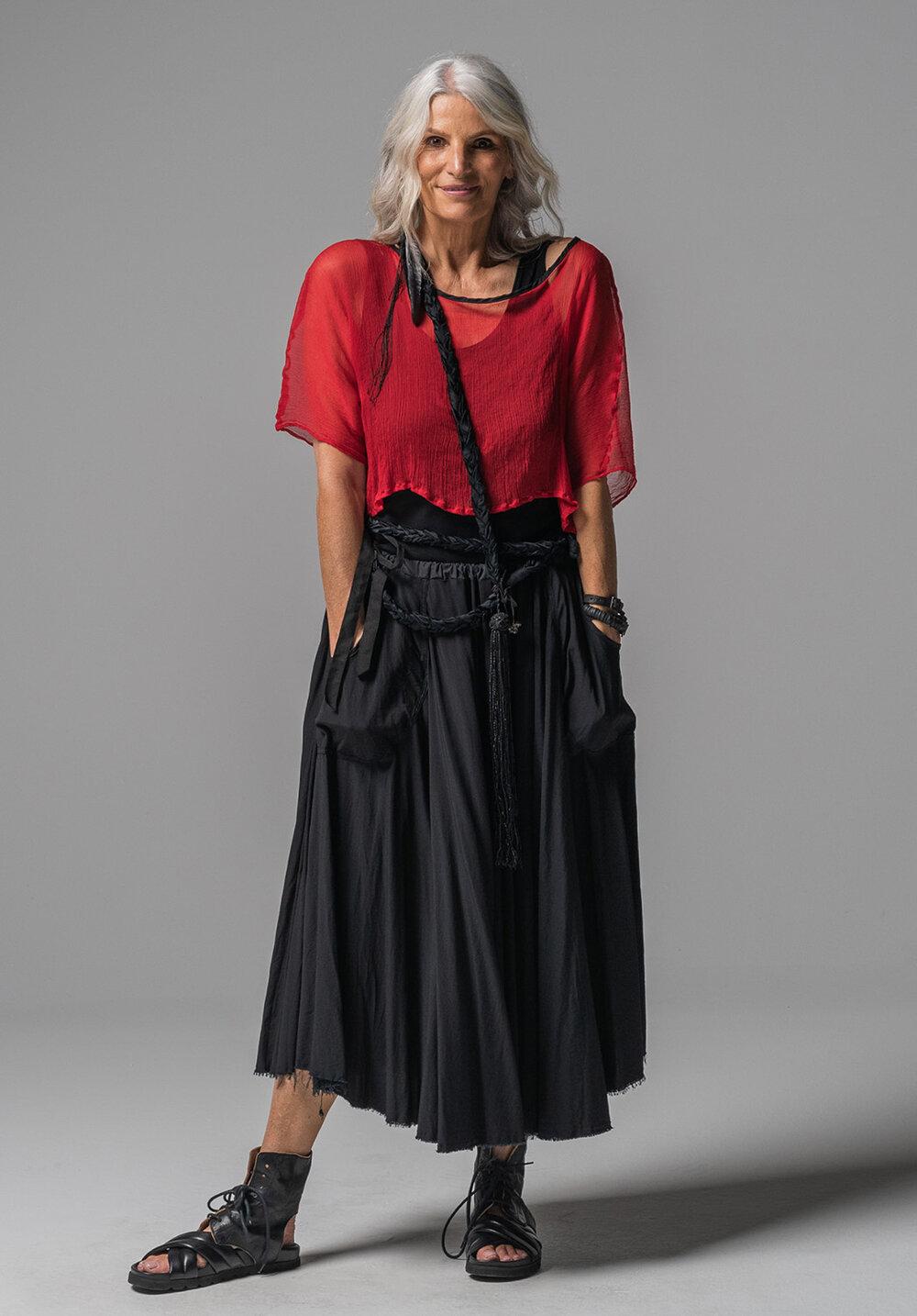 Archive top, Greta singlet + Mist midi skirt