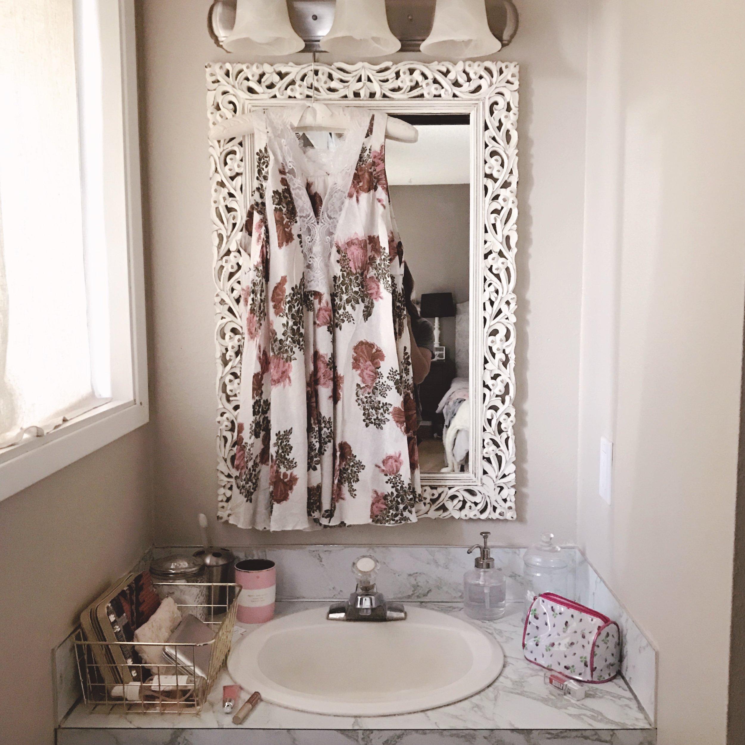pretty master bathroom