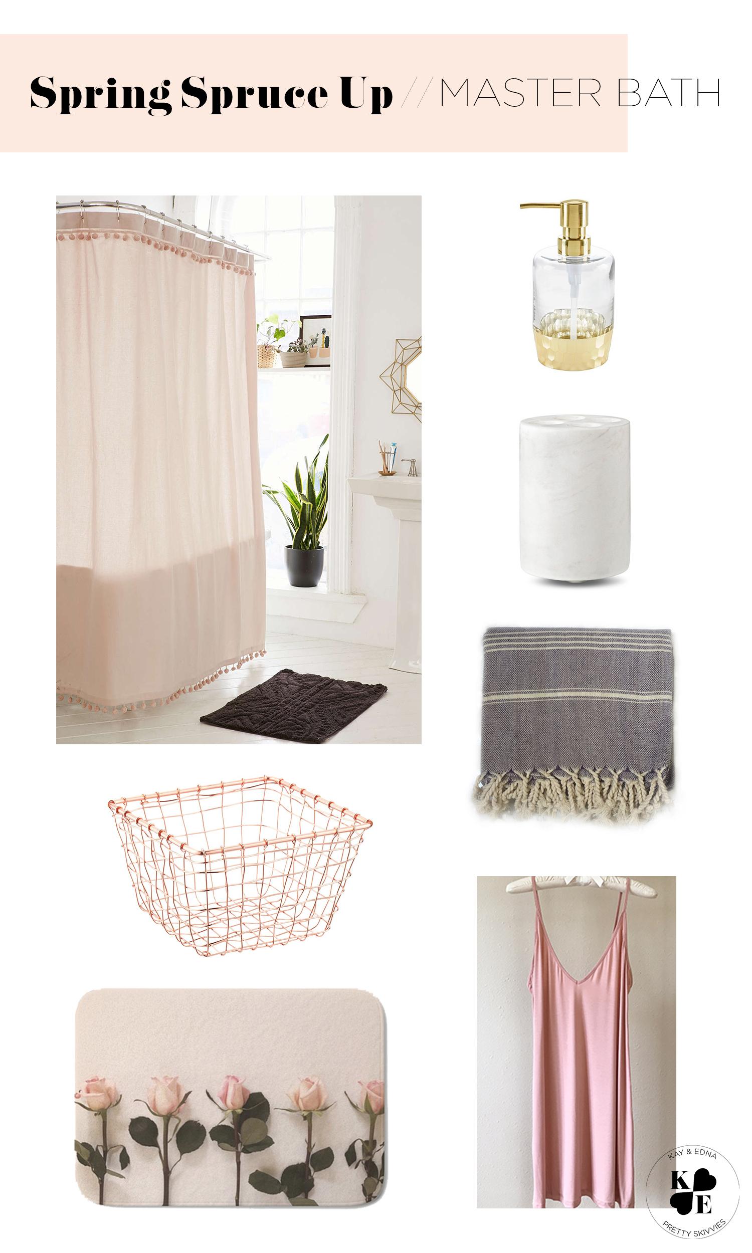 pretty pink master bathroom