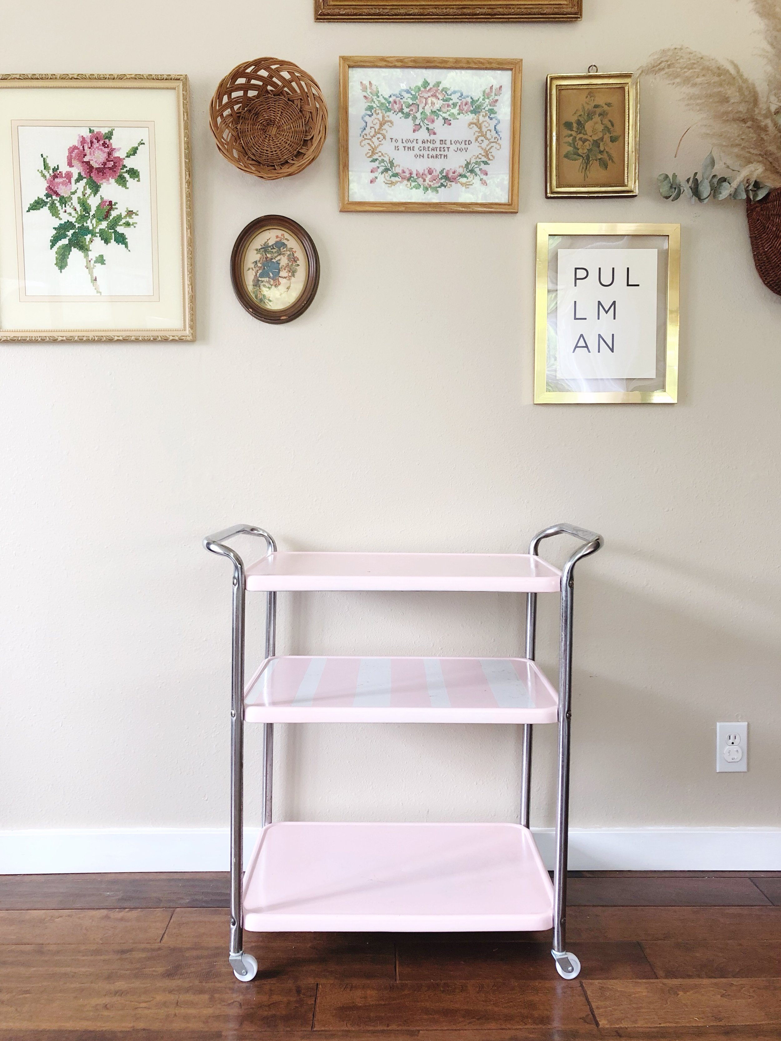 how to style a bar cart - step 1