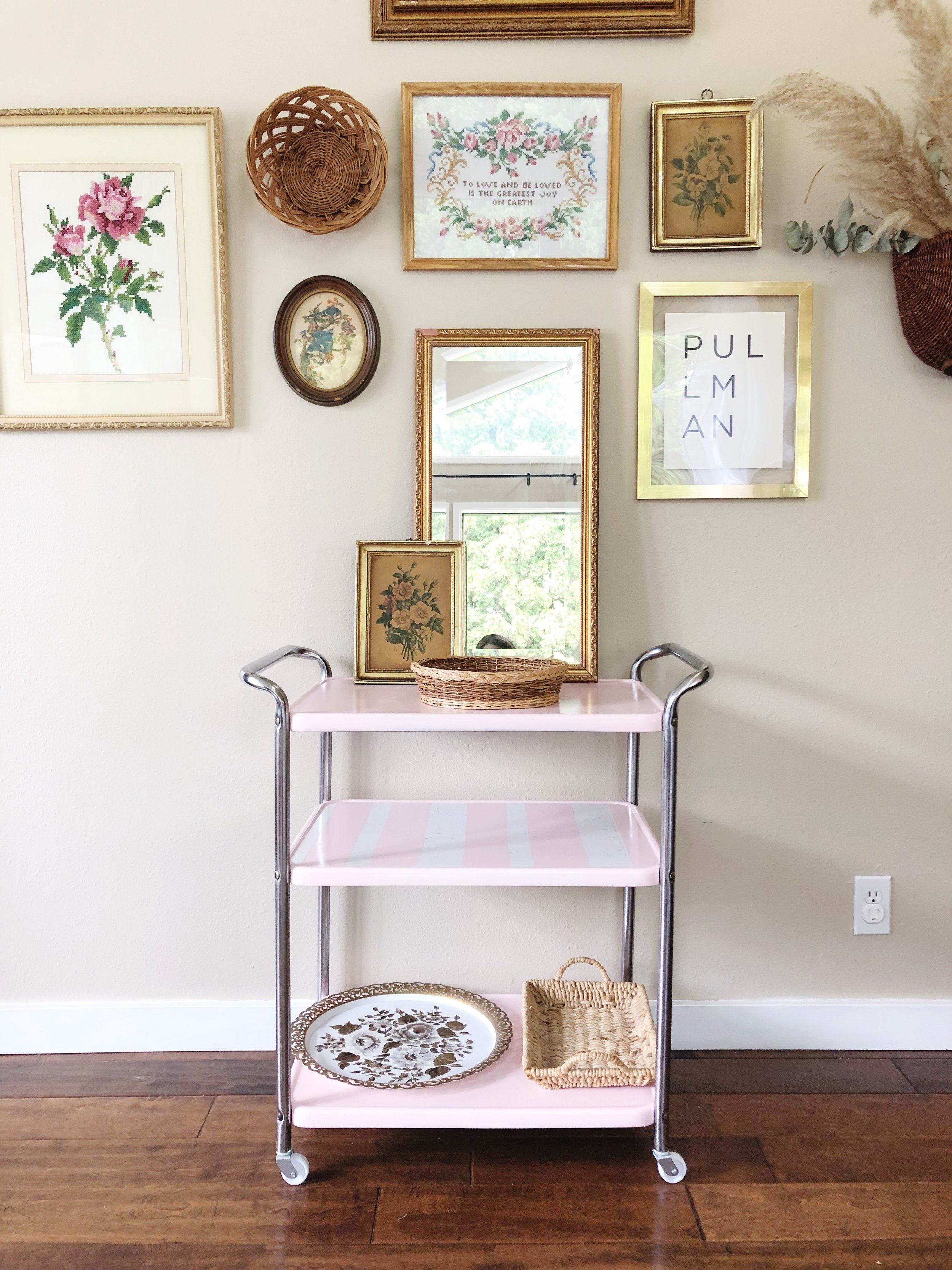 how to style a bar cart - step 3