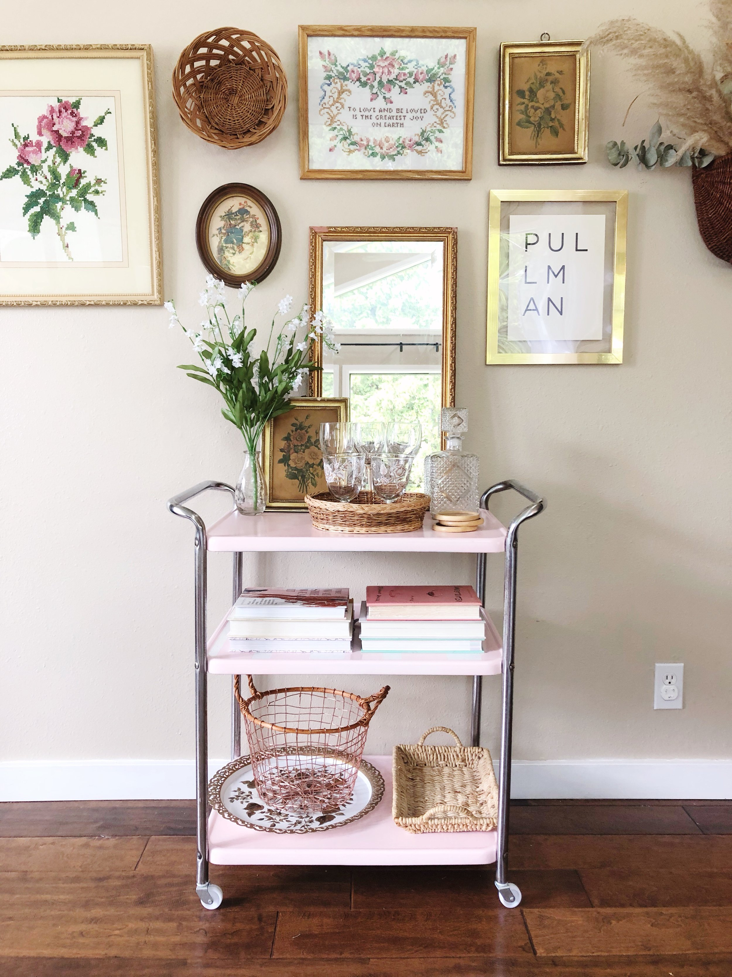 how to style a bar cart - step 5