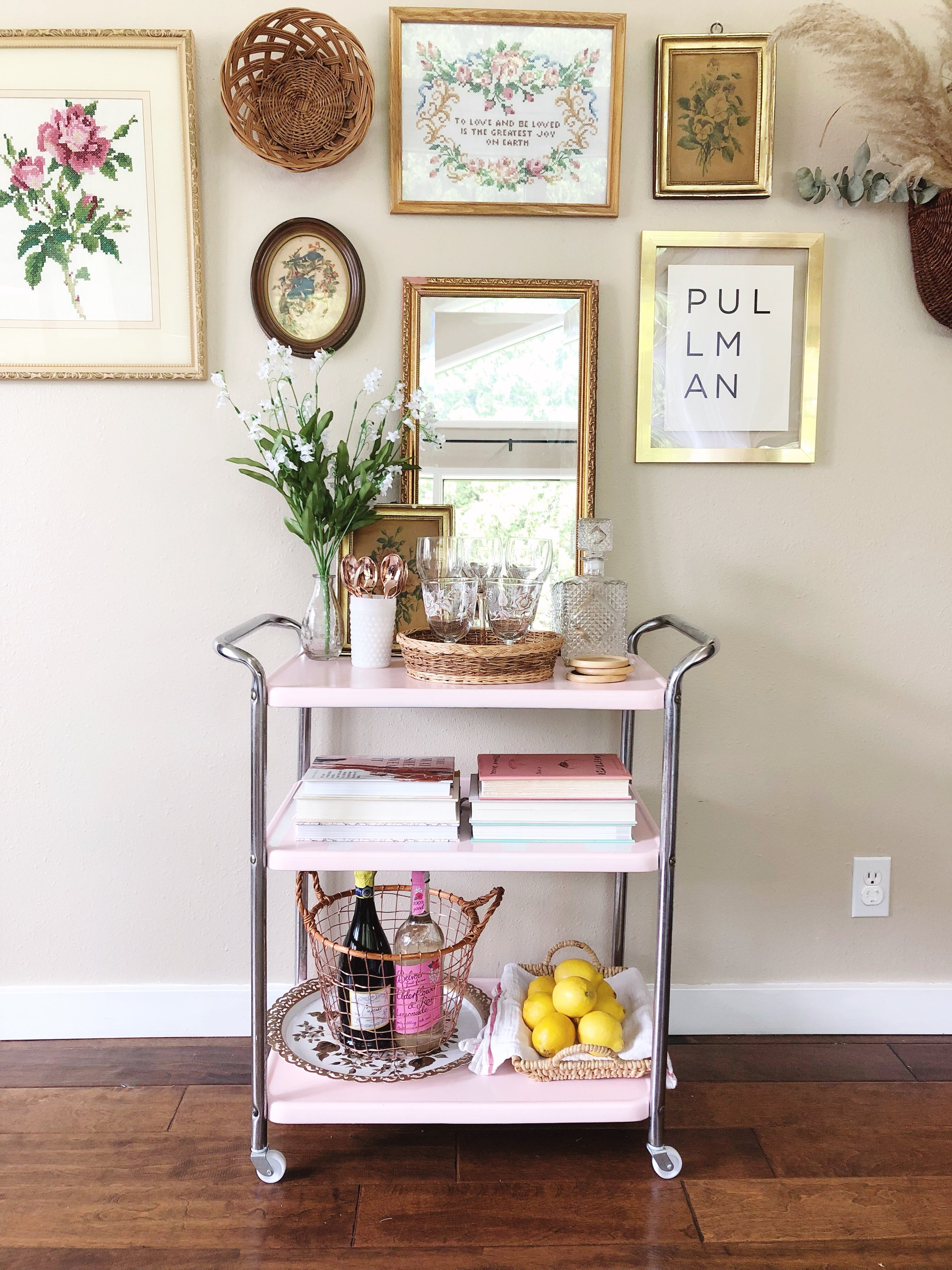 how to style a bar cart - step 6