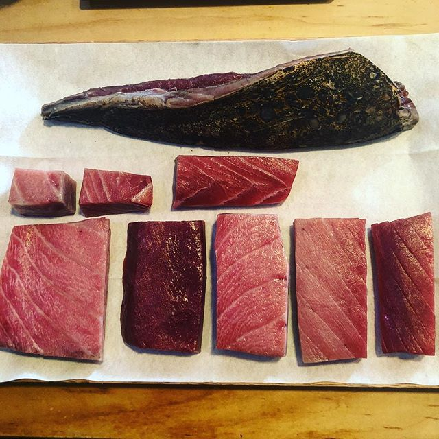 Maguro sensei & best Katsuo this year @ato_nyc sad loss for @kingjames but #always look forward #nextyear  #bestofny #nyc #bestofnyc #nyceats #soho #sohoeats #ato #atonyc #sashimi #sushi #omakase #japanese #japanesefood #saturday #lebronslegacy