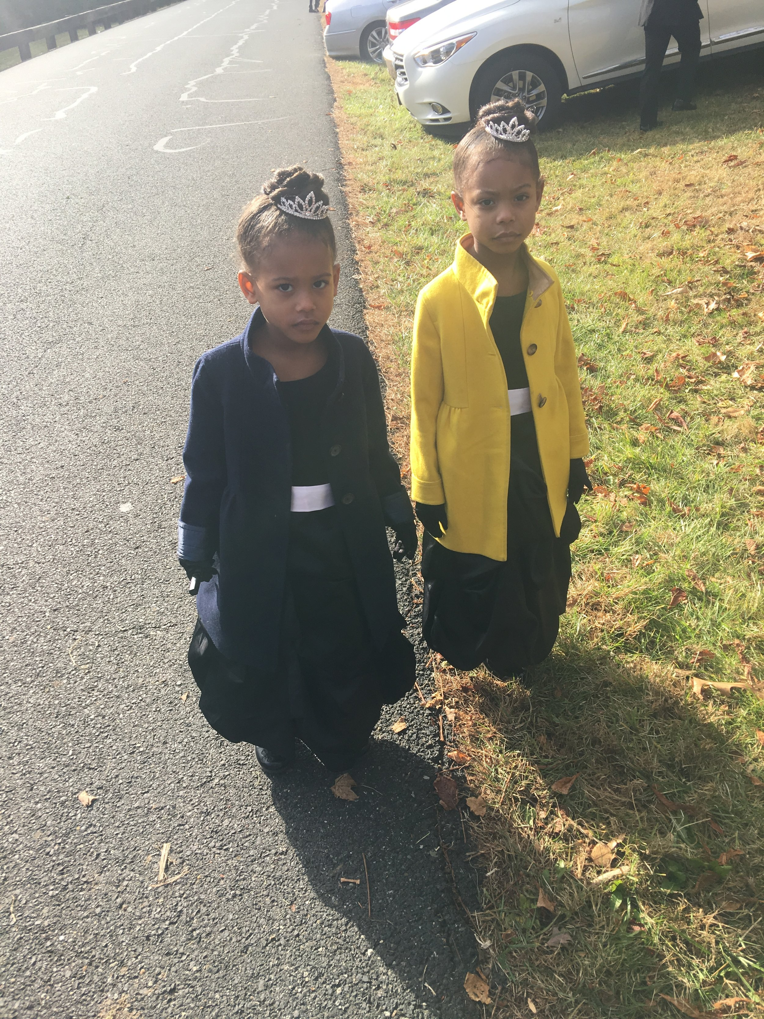 The girls in their CrewCuts winter coats