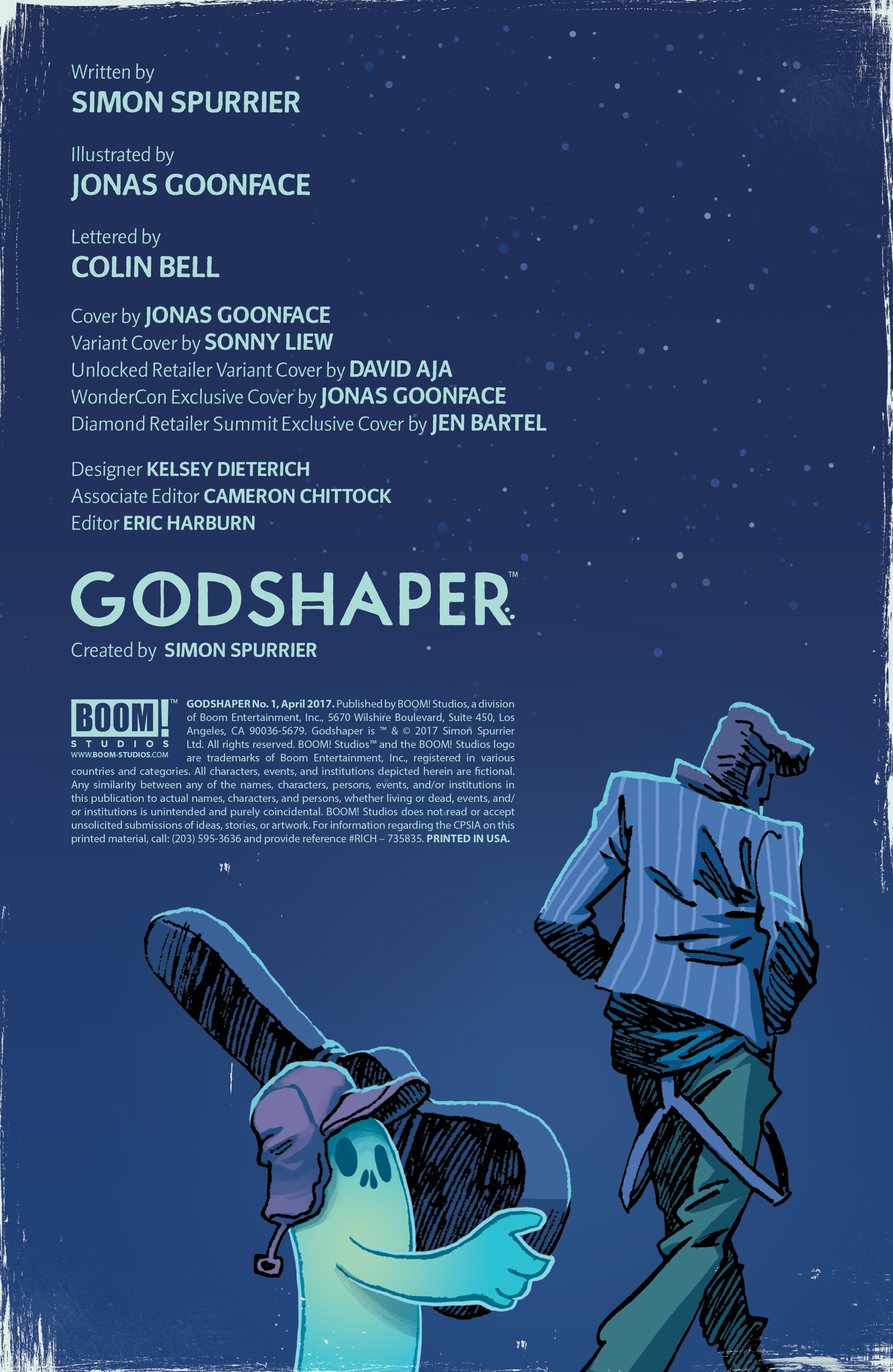 Inside credits page for issue #1