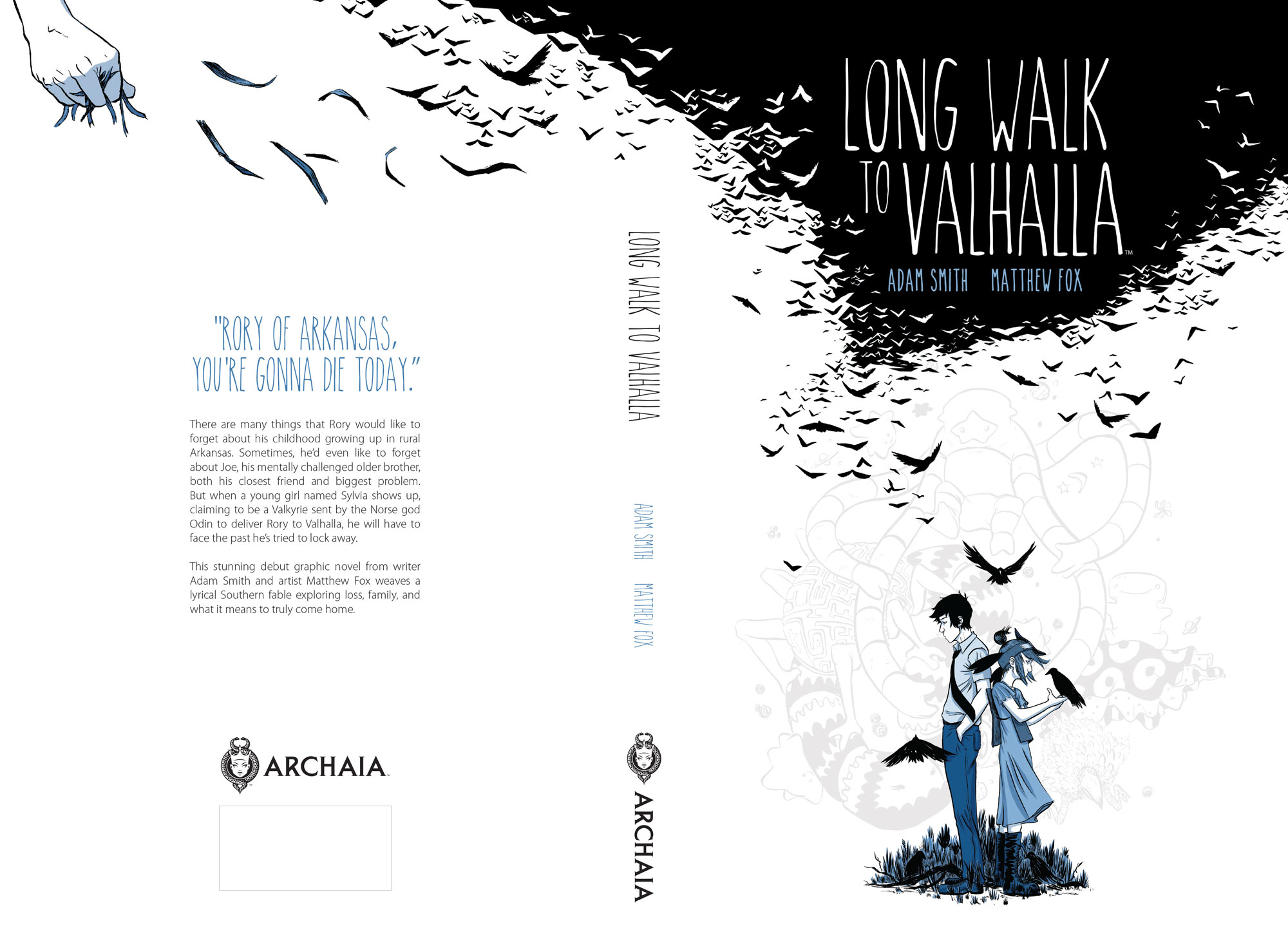Final casewrap design for the  Long Walk to Valhalla  hardcover.