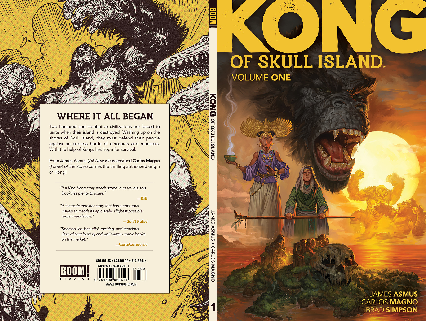 Cover design for  Kong of Skull Island  Vol. 1