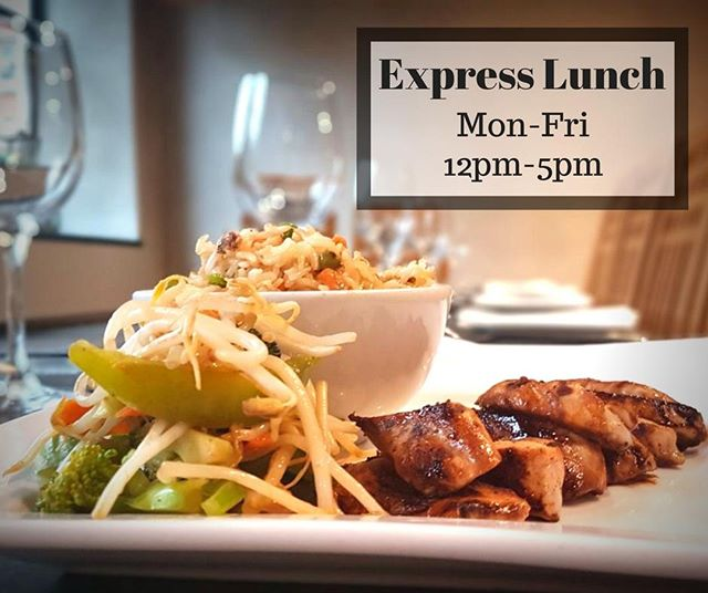 Enjoy our Express Lunch Menu for only £7.95! You get a choice of main which includes some of our guest favourites like the Chicken Teriyaki (featured) or the Duck with Tokyo Sauce. All mains are served with Fried Rice plus Beverage. Available Monday to Friday from 12pm-5pm. . Check out our lunch menu via the link in our bio!