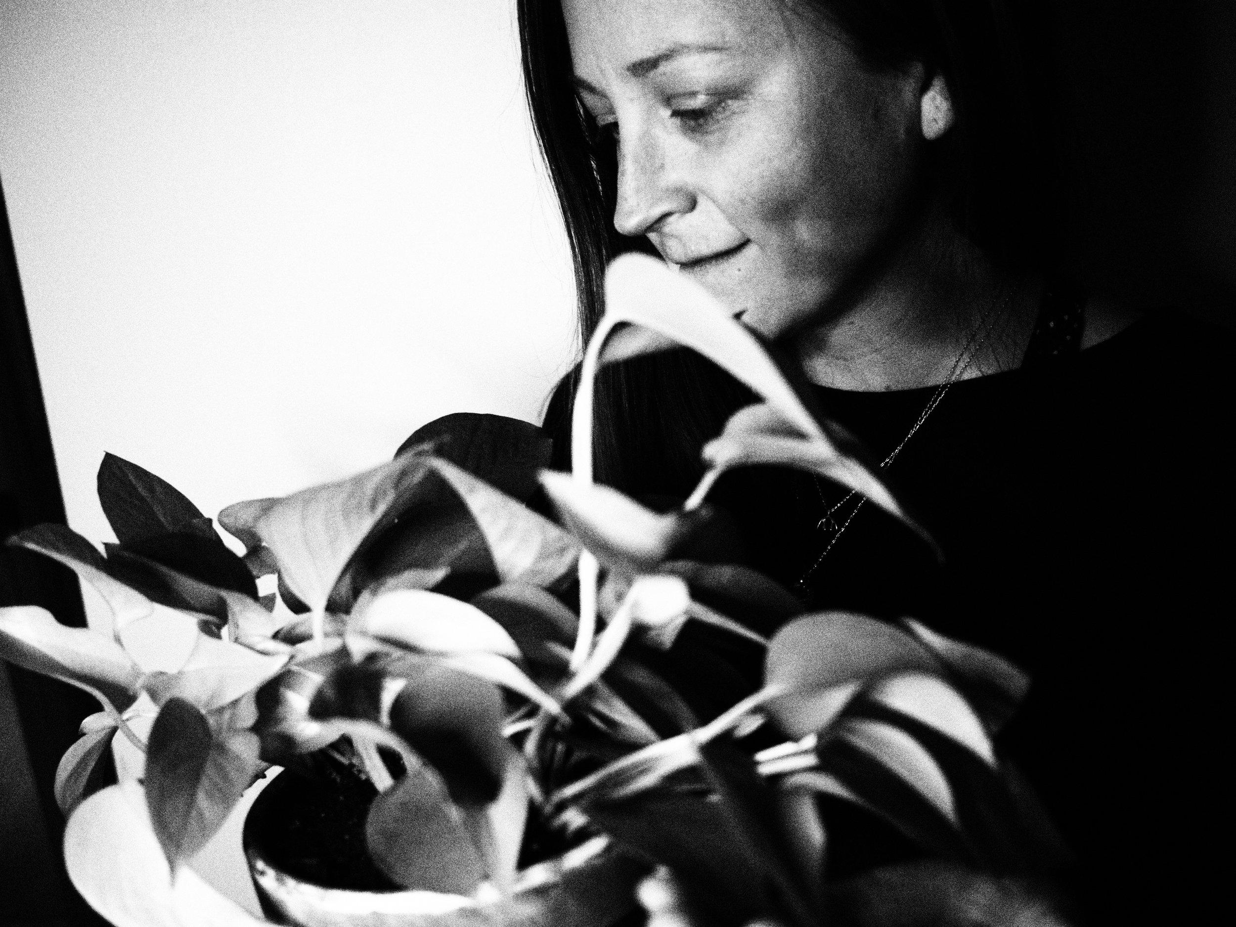 i am most comfortable hiding behind plants. portrait by  britta ambauen