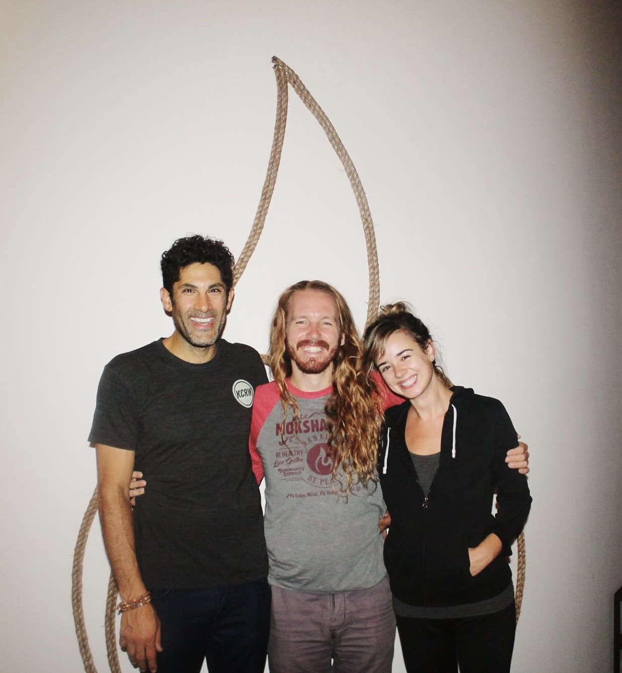 Me, Robi and Malika reunited at Modo Yoga LA