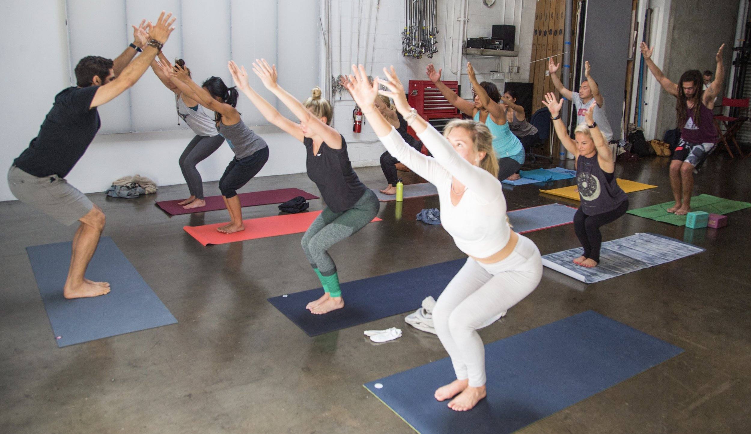 Here I am, honored to be leading a group class as part of Yoga Kitchen.