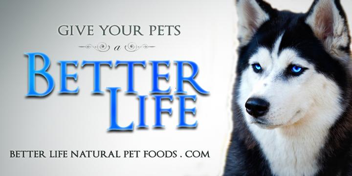 better life pet foods logo with Alaskan husky