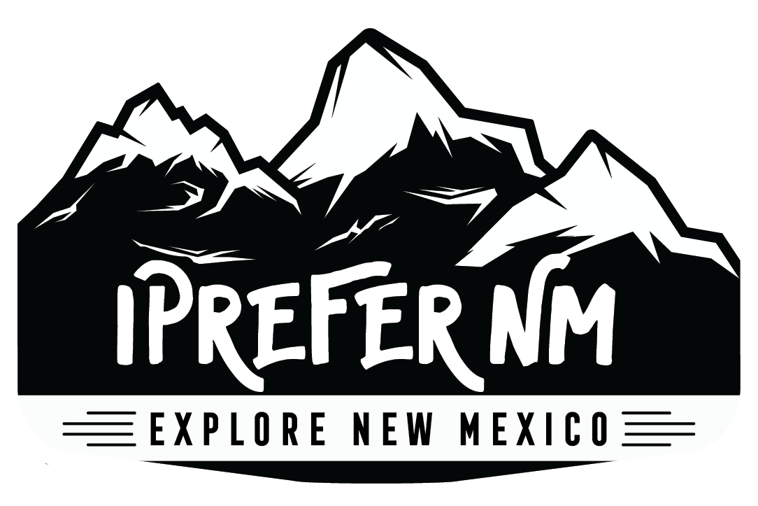 B&W logo for ipreferNM Explore New Mexico