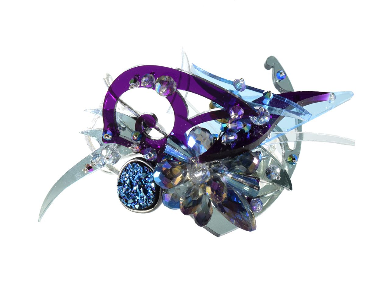 Laser cut plexiglass custom cuff bracelet