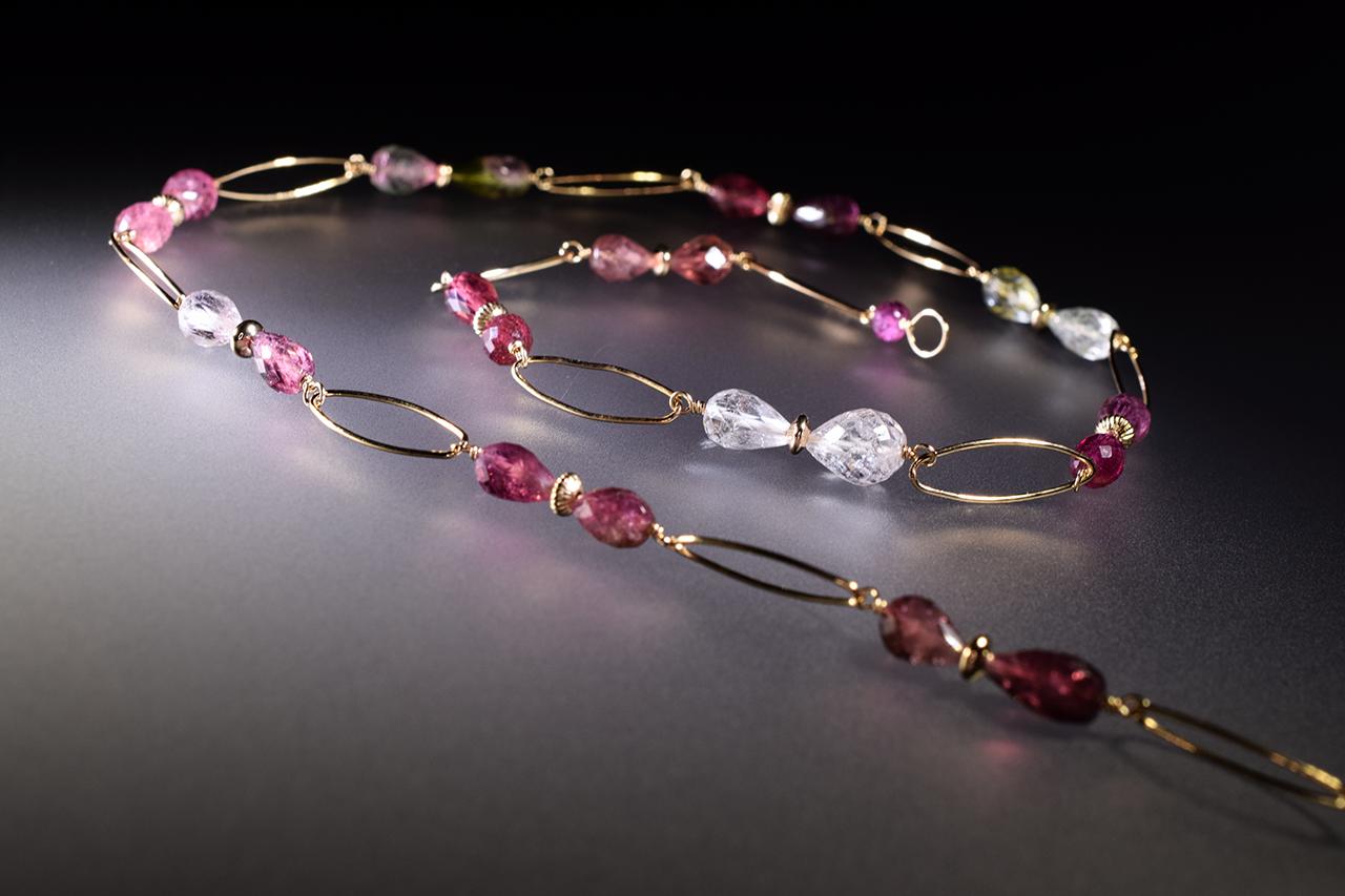 tourmaline layering necklace