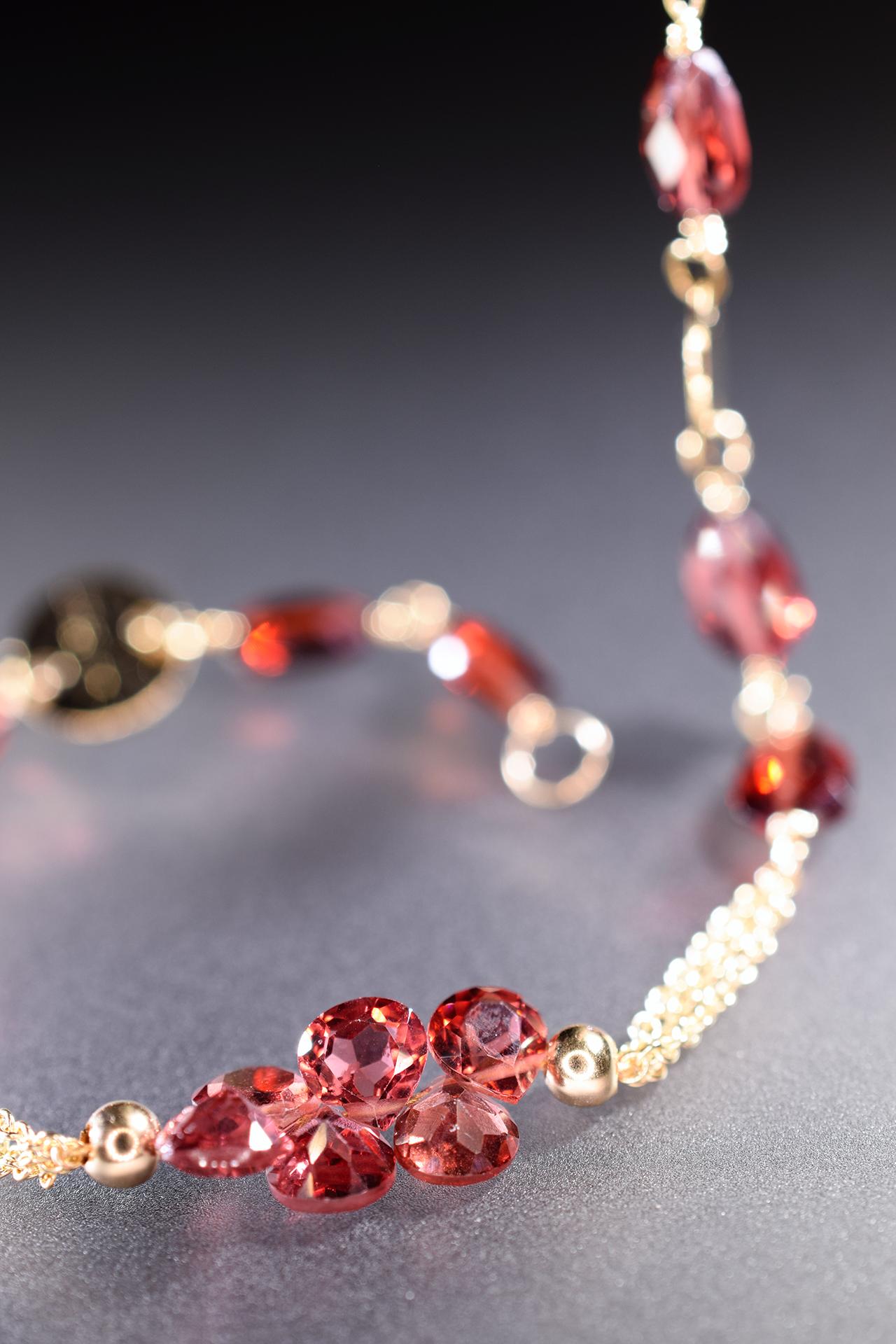 garnet layering bracelet
