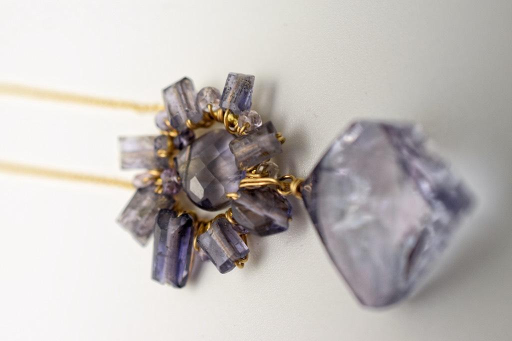 iolite pendant necklace