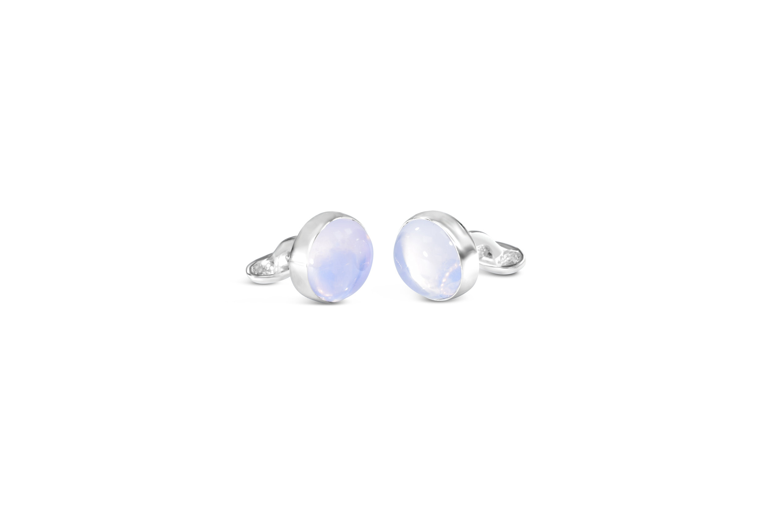 mens cufflinks made of sterling silver and lavender moonstone