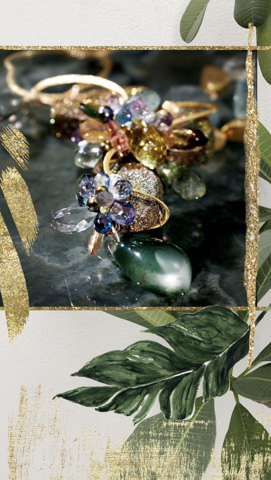 gemstone statement necklace