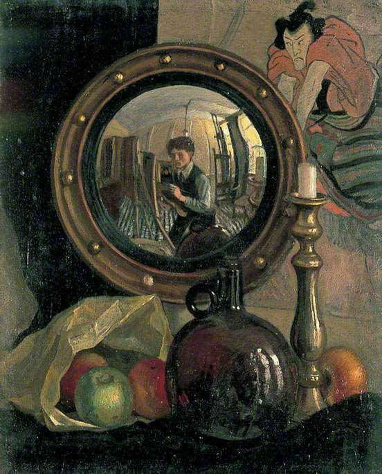 Mark Gertler, Still-Life with Self-Portrait , 1918