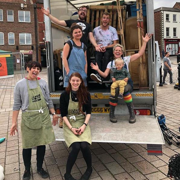 Look how happy the volunteers were when the shows were in darlington @ jabberwocky market