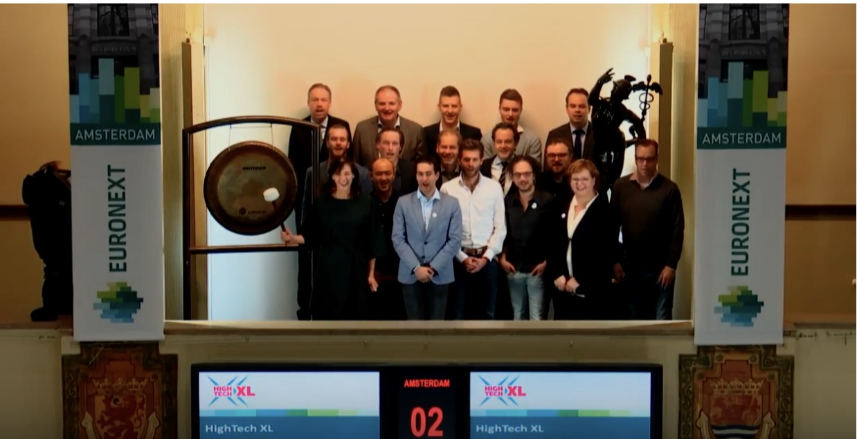 The gong ceremony at Euronext