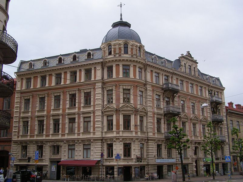 Linneagatan shops in Gothenburg