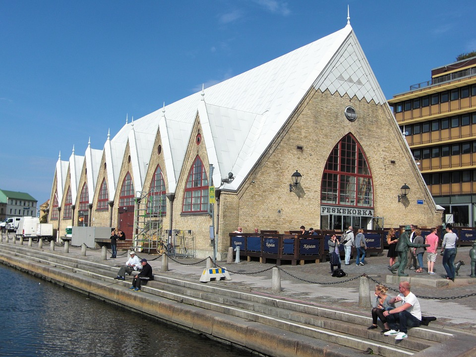 Feskekörkan in Gothenburg, the holiest fish market in the world.