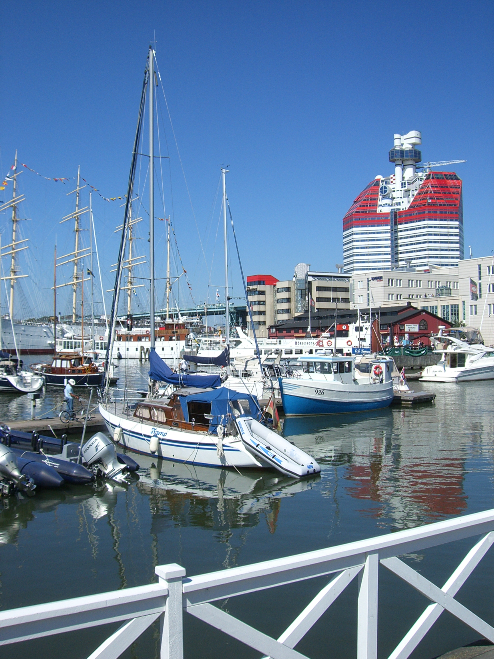 """The """"Lipstick"""" building offers beautiful views down the Göta River."""