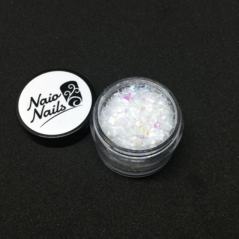Naio Nails - cracked ice mylar snowflake