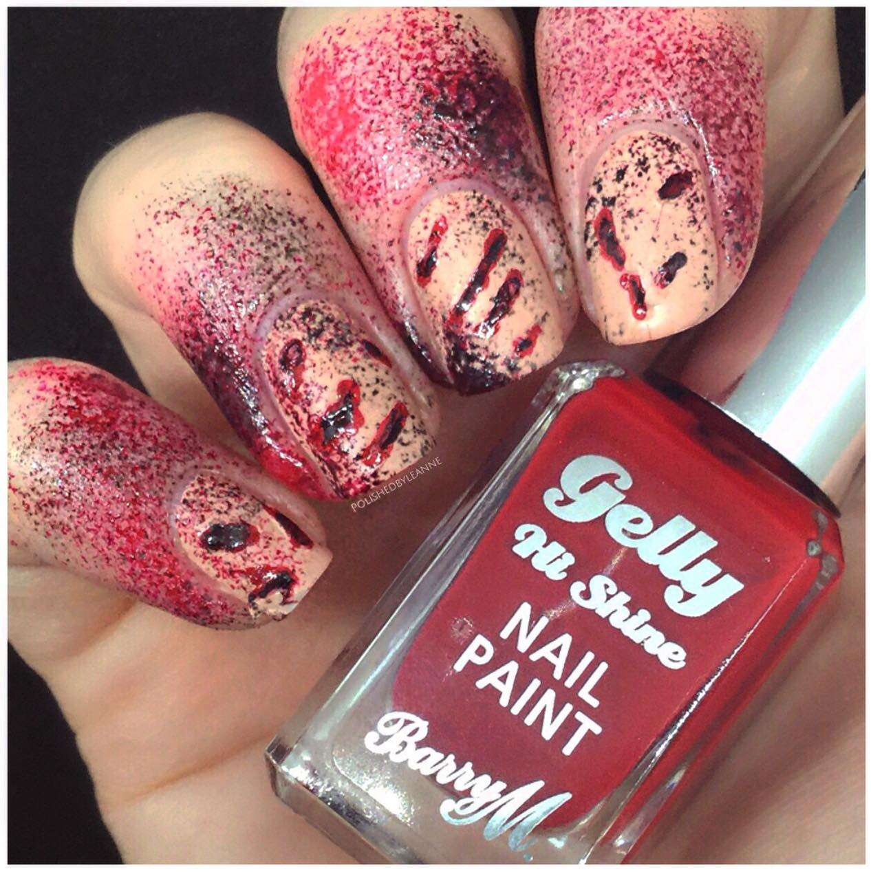 Dirty, Bloody Halloween Nails
