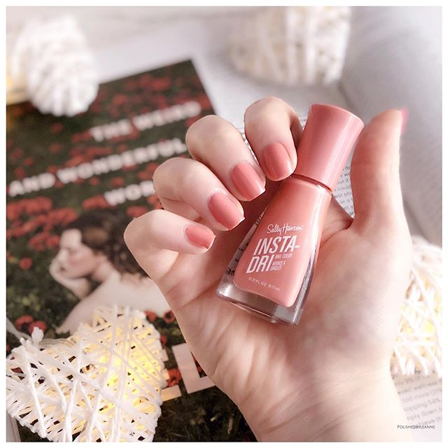 AD | Gifted  Tomorrow I will begin sharing the NEW @sallyhansenuk Insta-Dri Summer shades, including Mauve It featured in this pic 😍 Who already got theirs? Which are your fave colours? 💅🏻💖