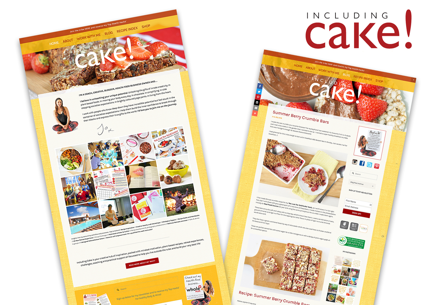 Including Cake Website & Branding
