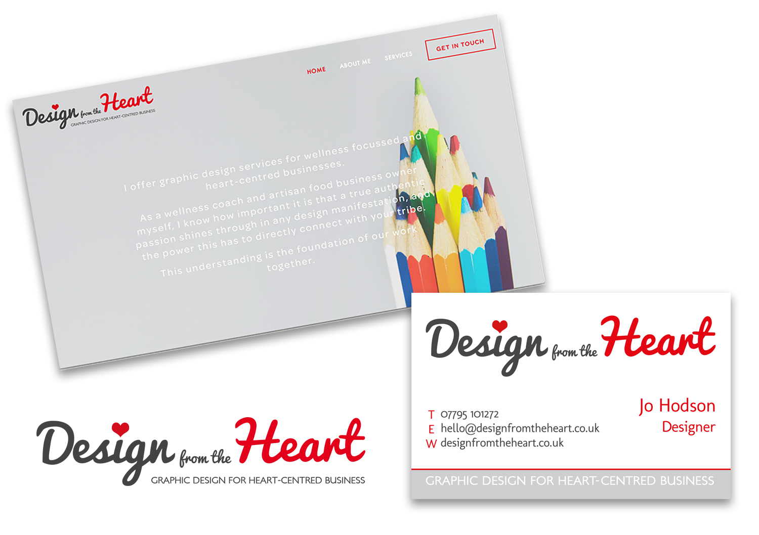 Design From The Heart Website & Card