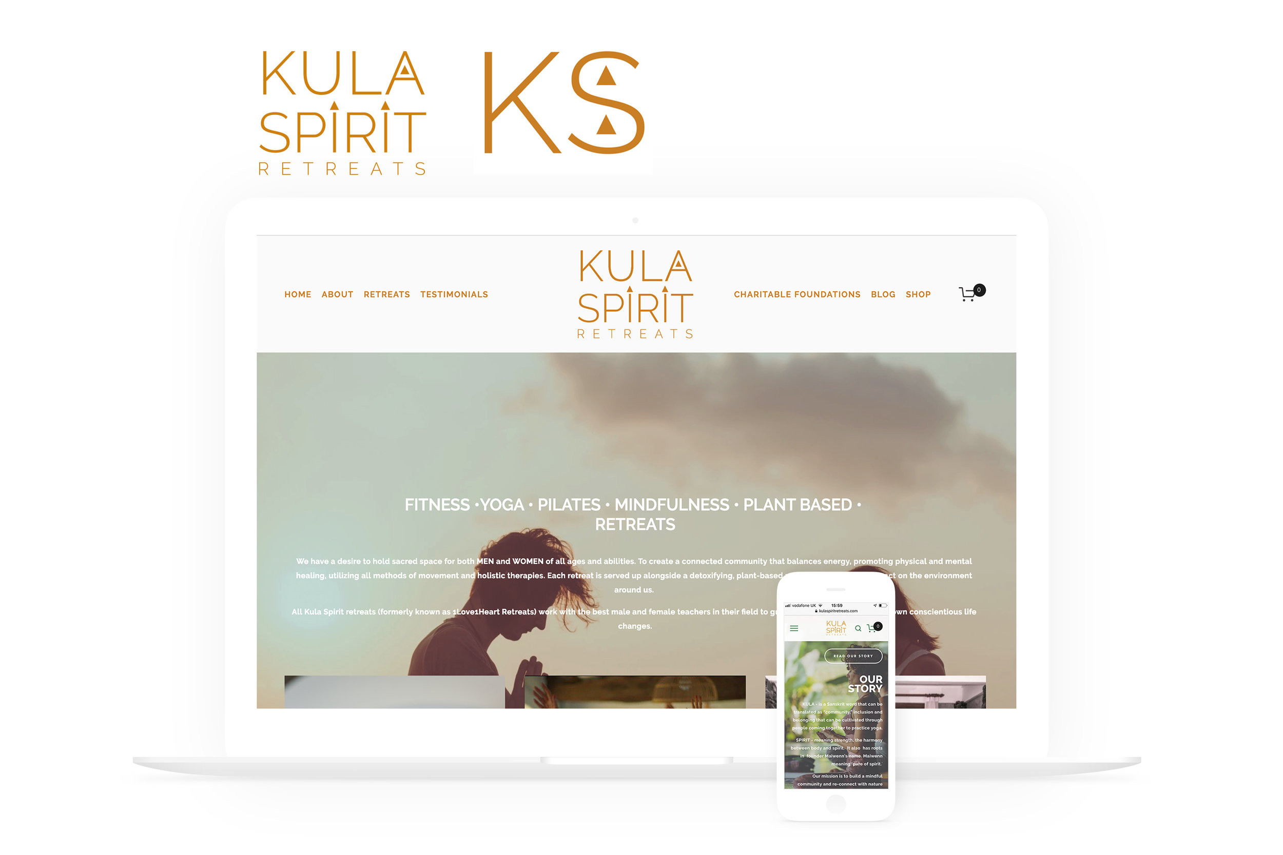 Kula Spirit Retreats Website & Logo