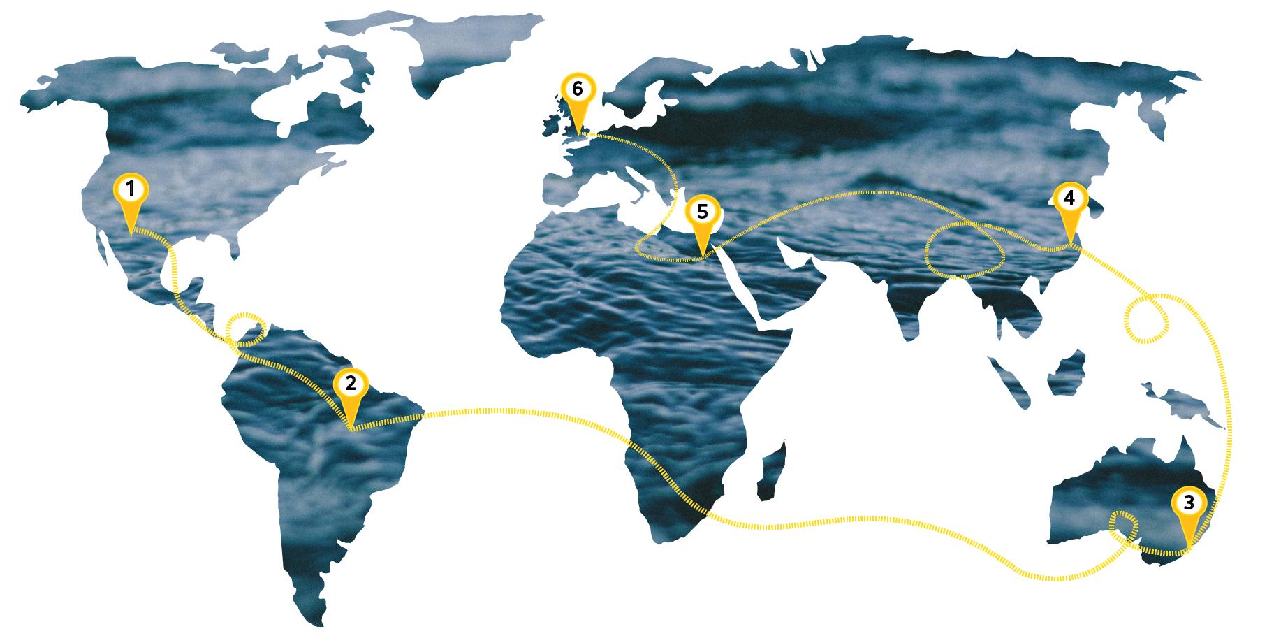 6 River Run Map #Run4water