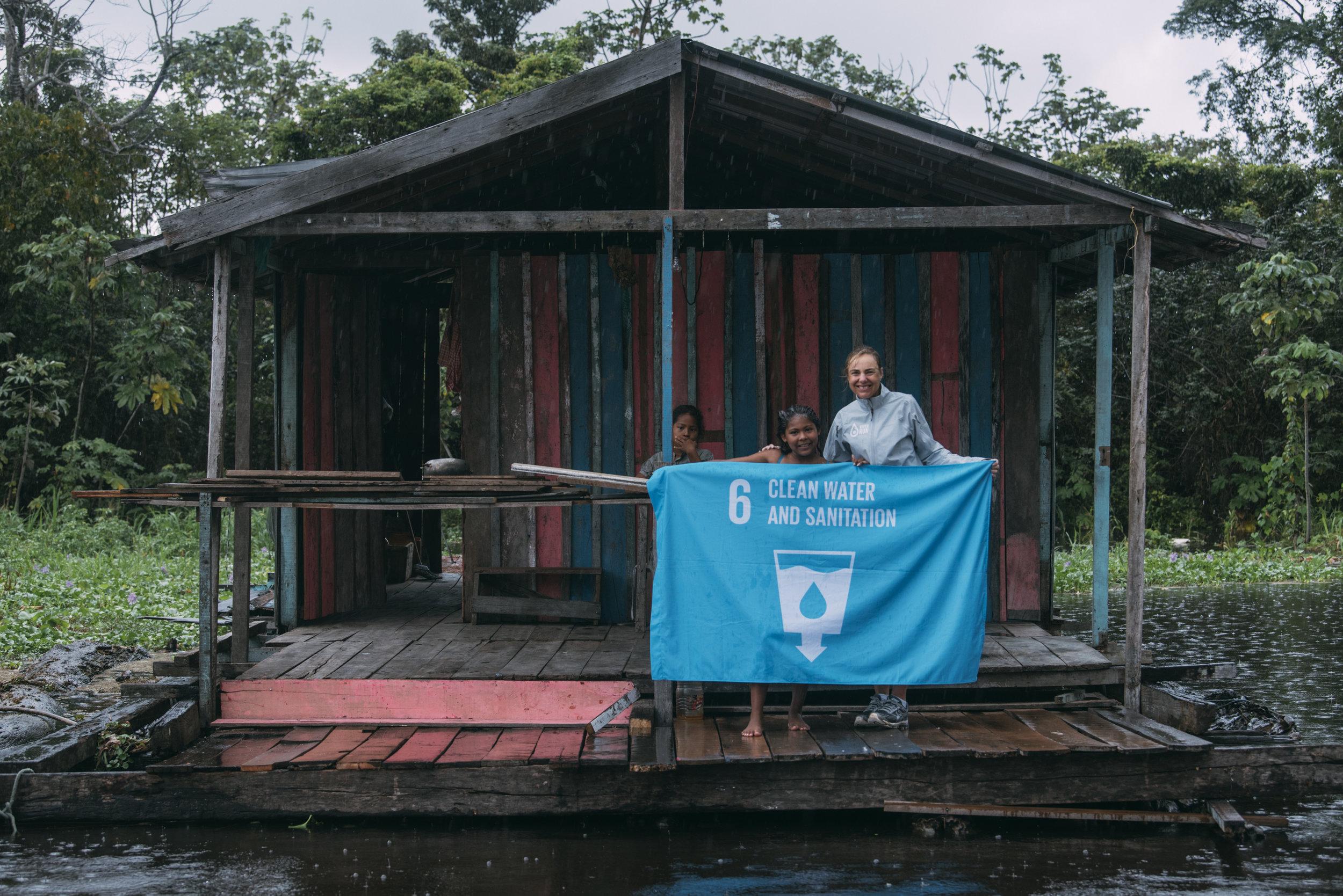 School girls from Manaus' floating village