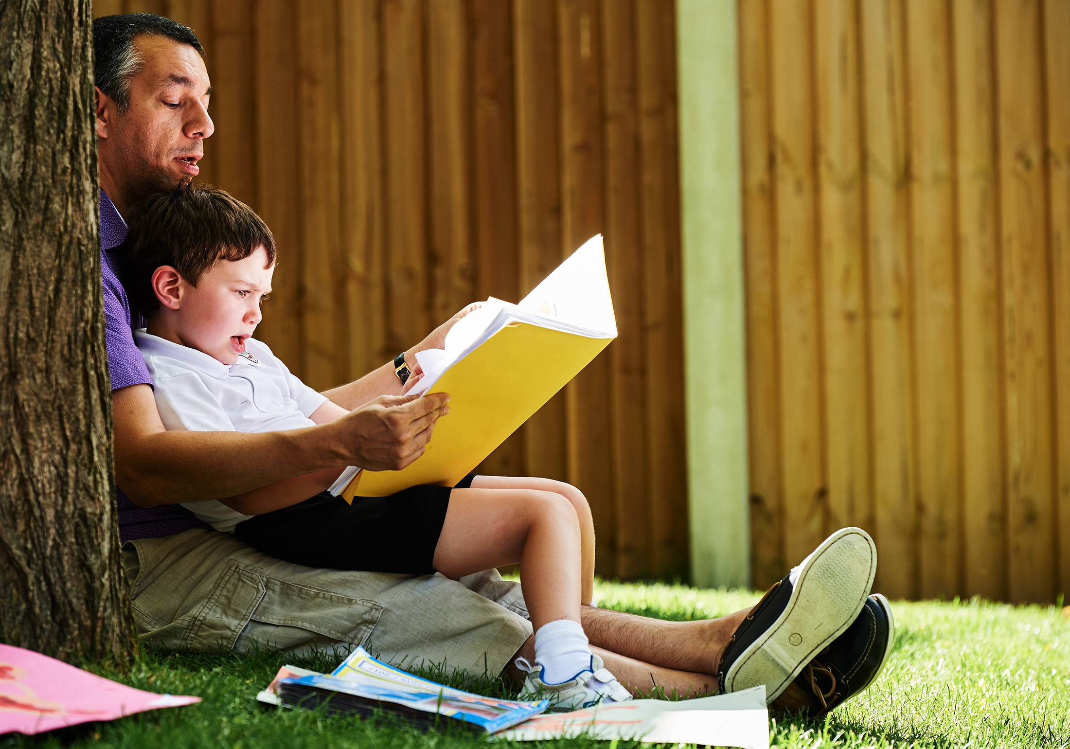 Maldon Court Prep school - Learning - reading - School photography - Fathers day