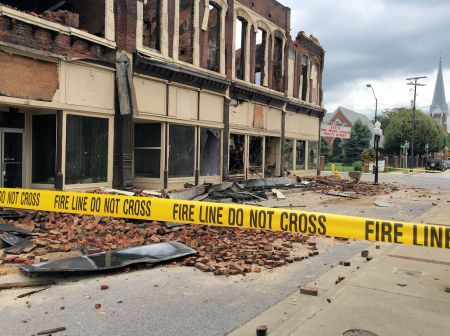 The building was eventually demolished after part of it collapsed on Youngs Hardware and caused damage to the building