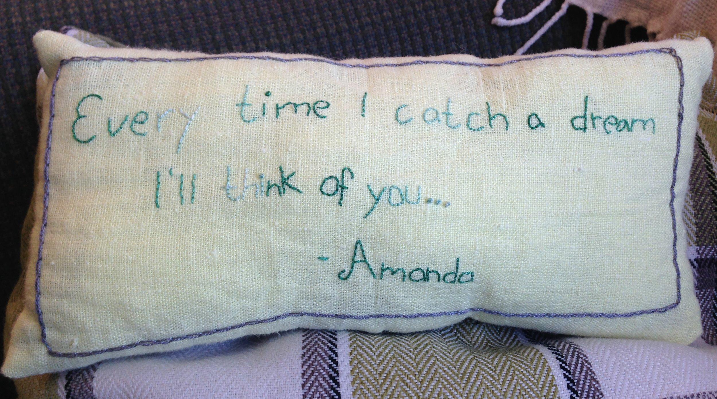 - Amanda, Stockholm (hand stitched pillow)