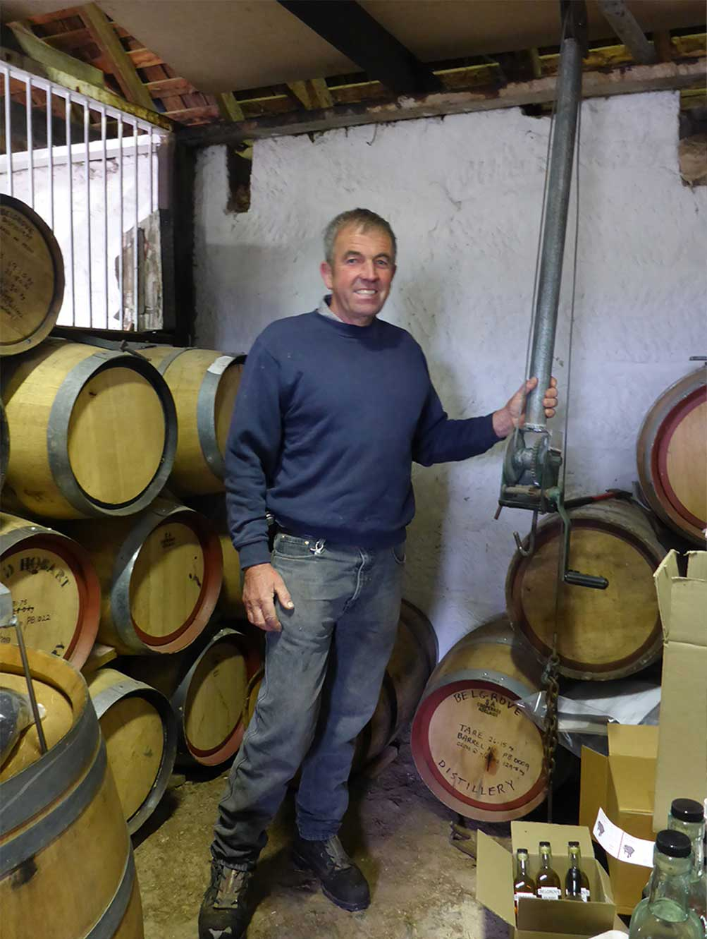 Peter Bignell at Belgrove Distillery