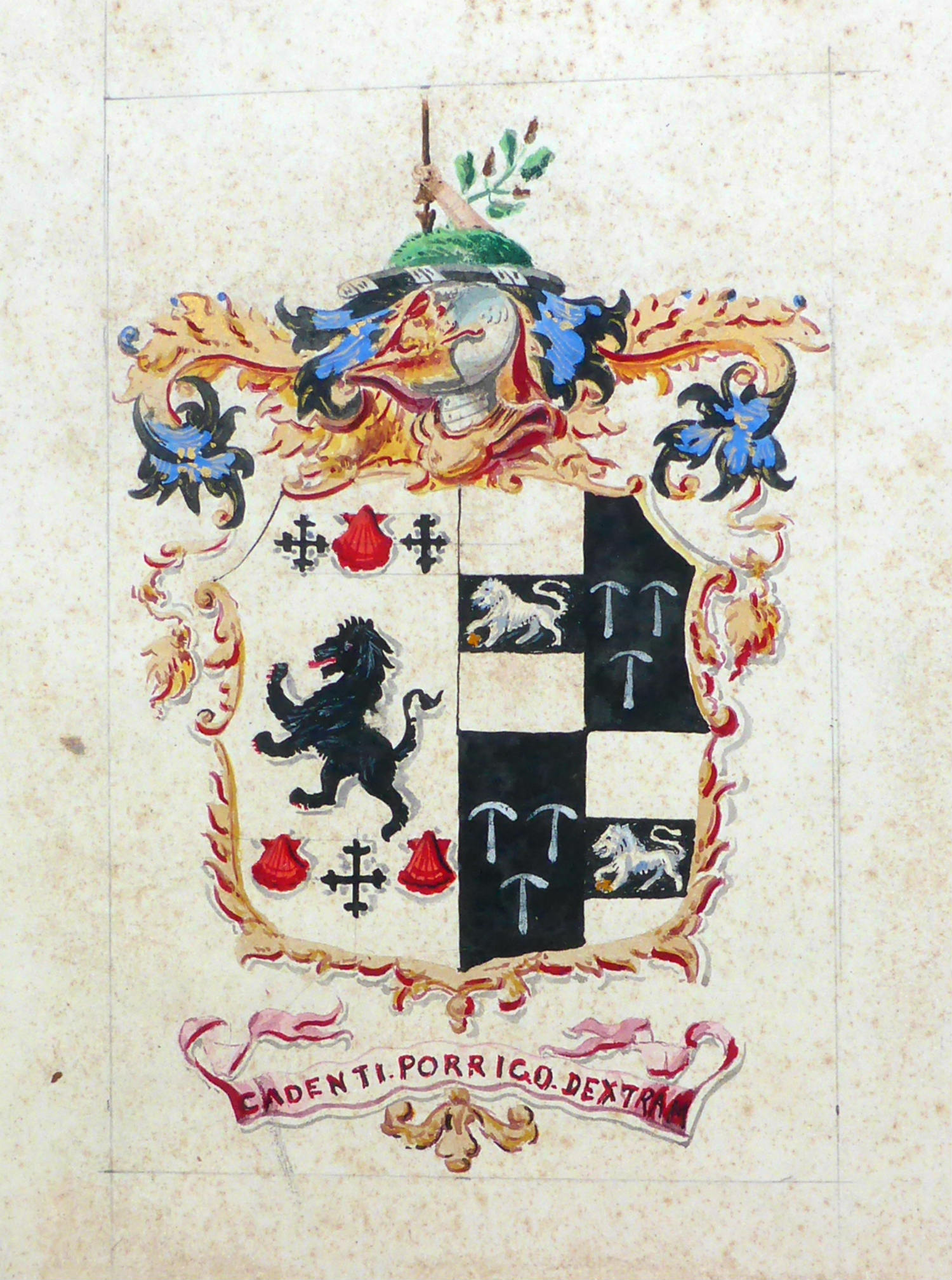 Charles' hand-painted Cooper King coat of arms