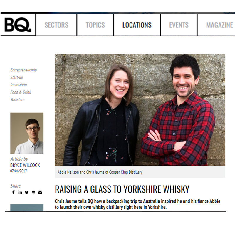 BQ Magazine   - Raising a Glass to Yorkshire Whisky