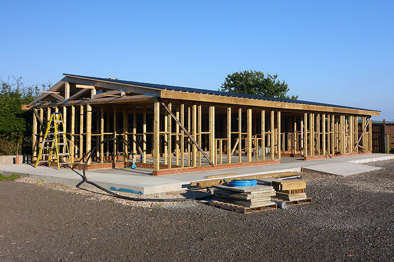 The distillery before cladding