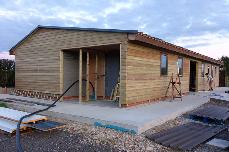 The new timber cladding looking swish!