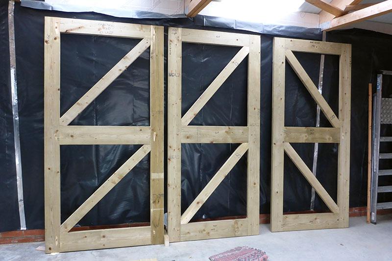 External doors in progress