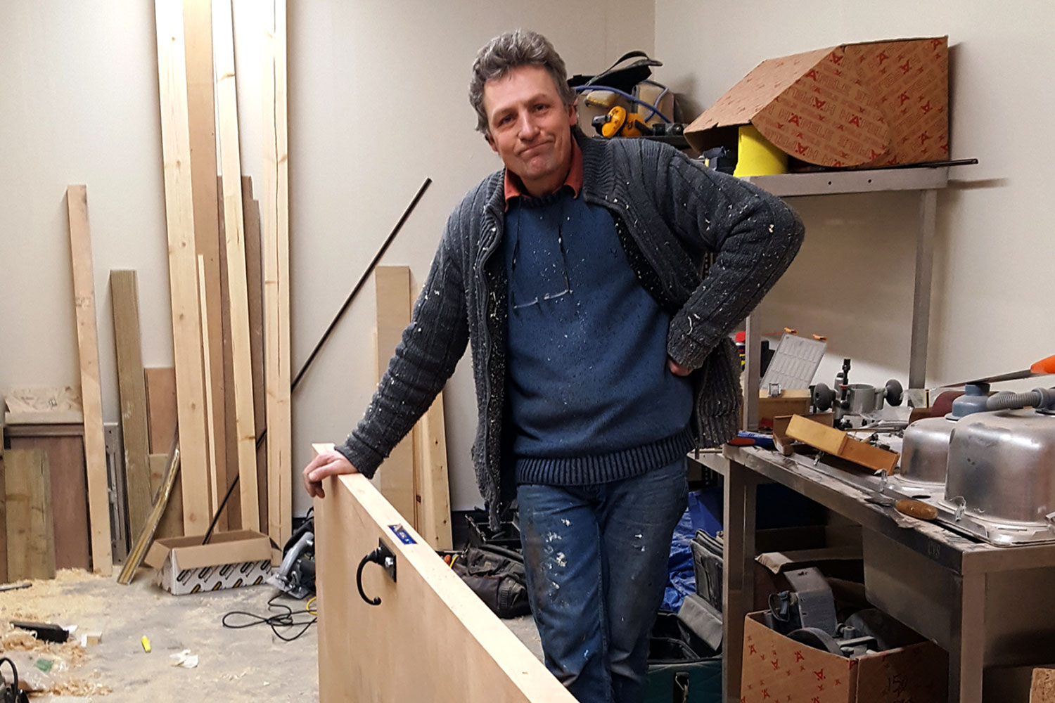 This is Quentin. Master cabinet maker, expert joiner, linchpin of the Cooper King woodworking department, and most important of all, Chris's father.