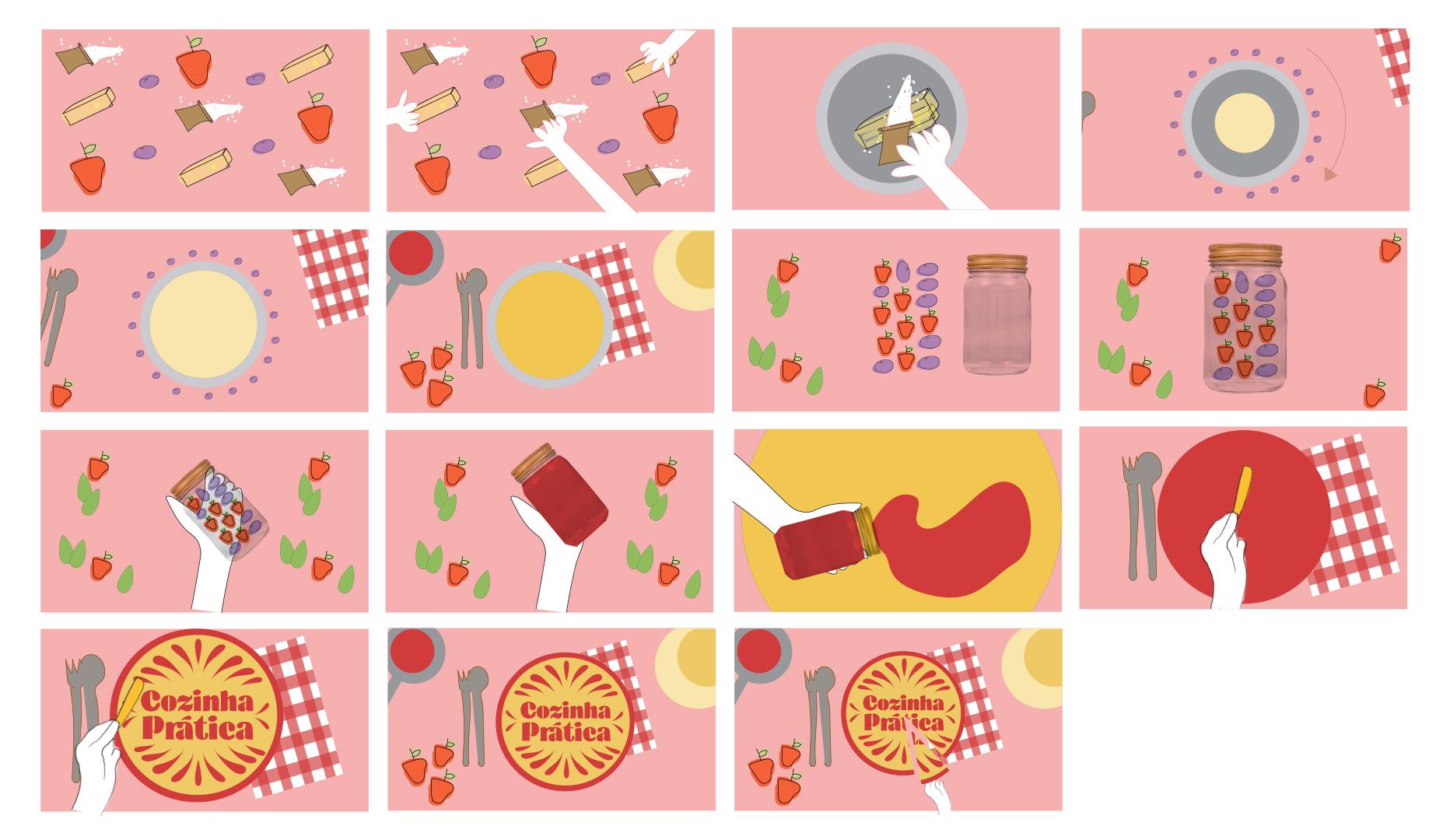 Cheesecake storyboard