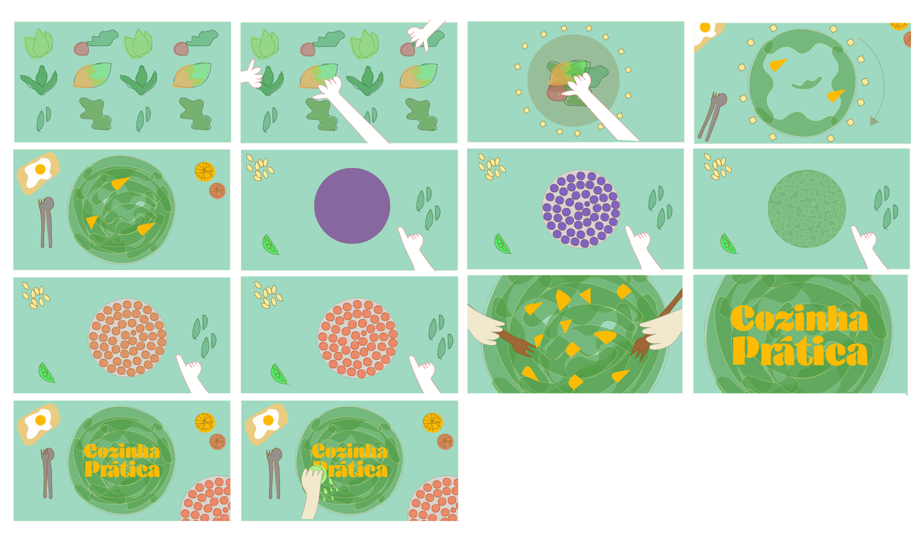 Salad storyboard